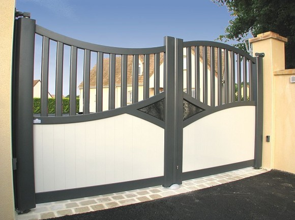 Portails cl tures edi habitat electricit economie for Home gate architecture